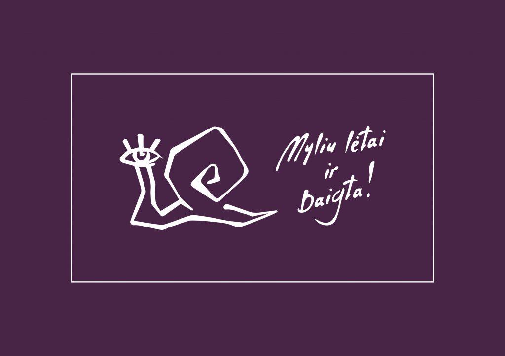 Logotipo spalva violetinė